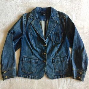 EUC Venezia Blazer Style Denim Jacket
